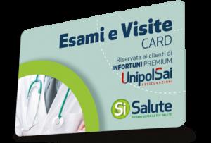 SiSalute, la card esami e visite Unipolsai