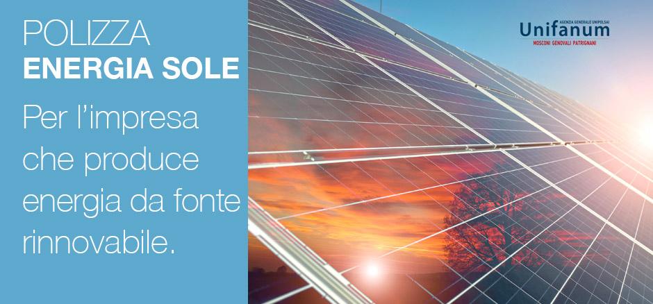 Unipolsai Energia Sole fonti rinnovabili