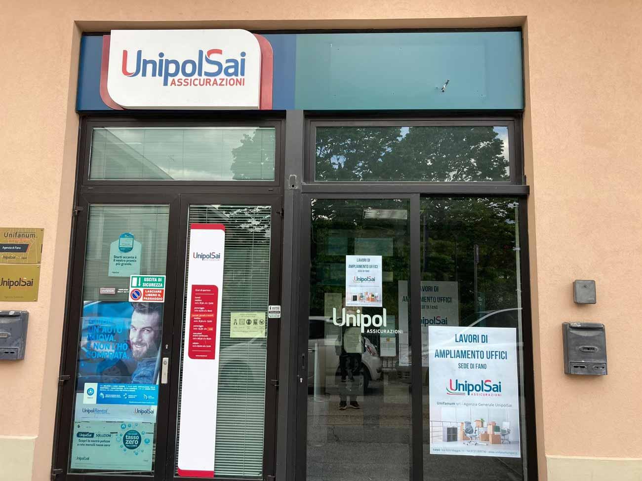 Sede di Fano - Unifanum Agenzia UnipolSai - Lavori di ampliamento